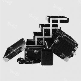 3단 대형 악어 블랙